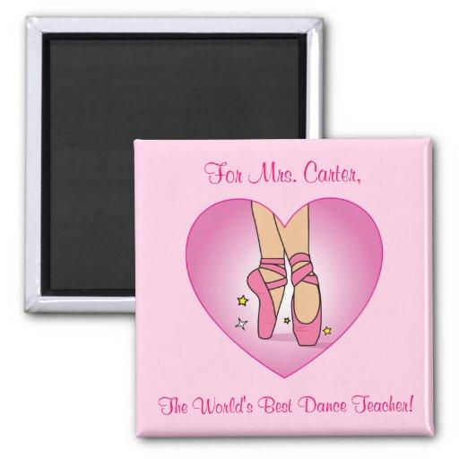 Dance Teacher Magnet with Ballet Shoes