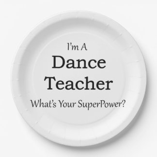 Dance Teacher Paper Plate