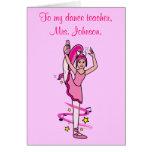 Dance Teacher Thank You Customisable Card