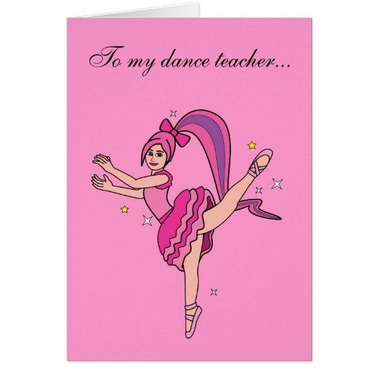 Dance Teacher Valentine's Day Card