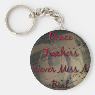 Dance Teachers Never Miss a Beat Basic Round Button Key Ring