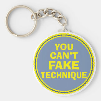 Dance Technique Dancer Can't Fake It Dance class Basic Round Button Key Ring