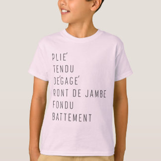 Dance Terminology for Kids T-Shirt