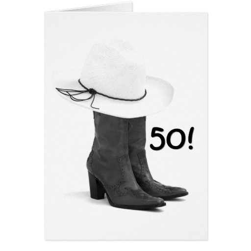 "DANCE THE NIGHT AWAY FOR YOUR ""50th"" BIRTHDAY Greeting Cards"