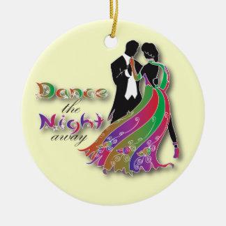 Dance the Night Away Round Ceramic Decoration