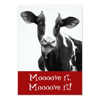 Dance til the Cows Come Home - Bachelorette Party 13 Cm X 18 Cm Invitation Card