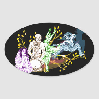 Dance to life oval sticker