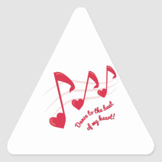 Dance TO The Beat Triangle Sticker