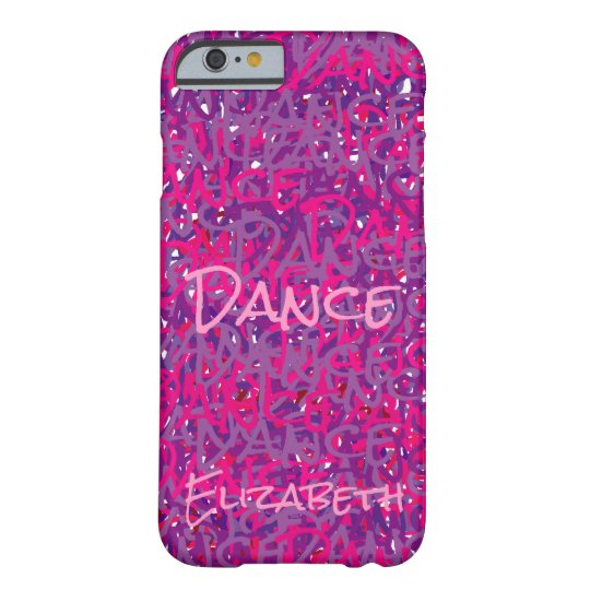 Dance Unique Pink Purple Abstract Barely There iPhone