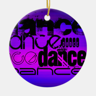 Dance; Vibrant Violet Blue and Magenta Christmas Ornament