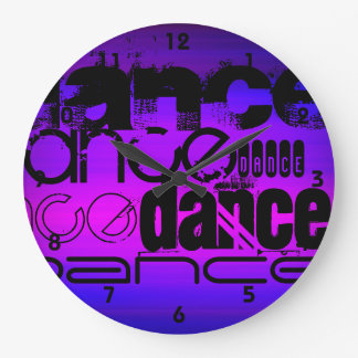 Dance; Vibrant Violet Blue and Magenta Wall Clock
