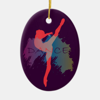 Dance Watercolor Ceramic Oval Decoration