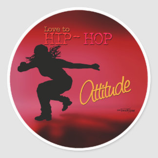 Dance with Attitude Round Stickers