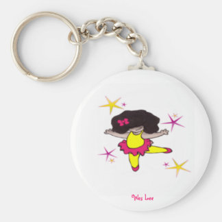 Dance With me Ballerina Basic Round Button Key Ring