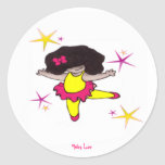 Dance With me Ballerina Round Stickers