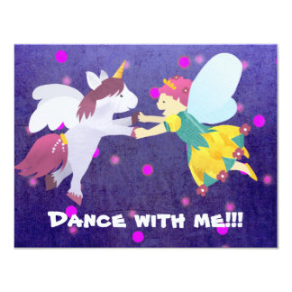 Dance with me!!! Fairy invitation! 11 Cm X 14 Cm Invitation Card