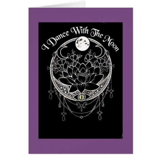 Dance with the moon Pagan Greeting Card
