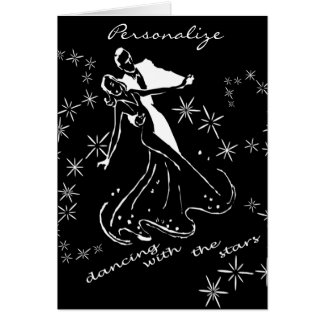 dance with the stars greeting card