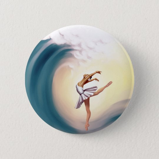 Dance with waves 6 cm round badge