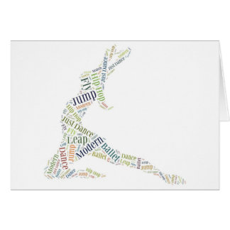 Dance Word Cloud Greeting Card