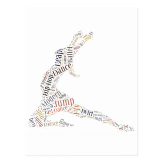 Dance Word Cloud Postcard