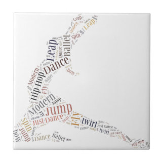 Dance Word Cloud Small Square Tile
