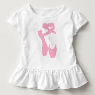 """Dance Your Face Off"" Ballet Shoes Toddler Shirt"