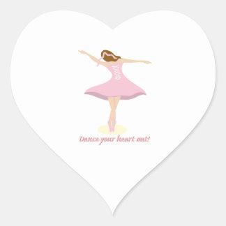 Dance Your Heart Out! Heart Sticker
