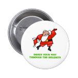 DanceChick Santa Dance Pinback Button