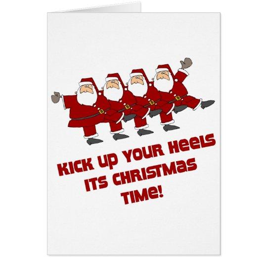 DanceChick Santa Kicks Card