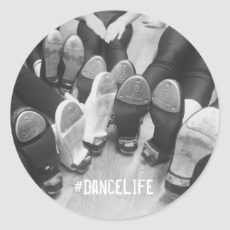 #DanceLife Tap Dance Classic Round Sticker, Glossy Round Sticker