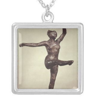 Dancer, 1883 silver plated necklace