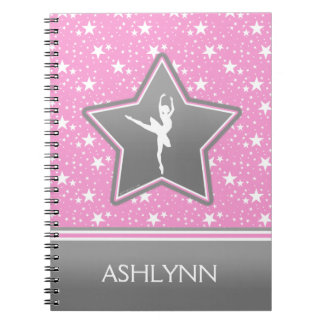 Dancer Among the Stars in Pink with YOUR NAME Note Books