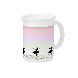 Dancer amongst the stars and pink sky pitcher
