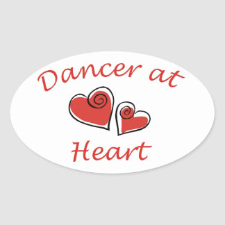 Dancer at Heart Oval Stickers