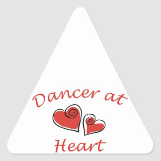 Dancer at Heart Triangle Sticker