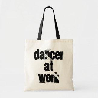 Dancer at Work White/Black Tote Bag