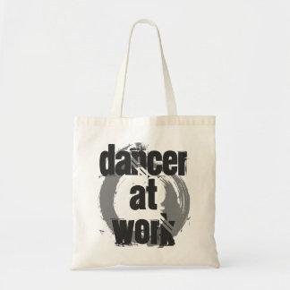 Dancer at Work White & Grey Tote Bag