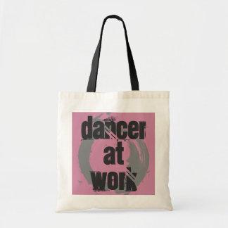 Dancer at Work White/Pink/Grey Tote Bag