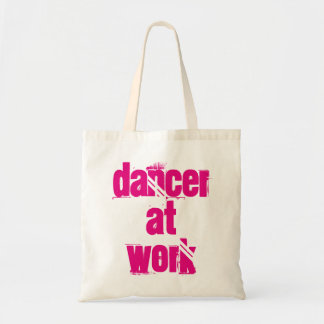Dancer at Work White/Pink Tote Bag