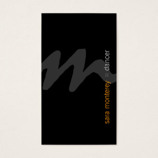 Dancer Bold Script Monogram Business Card