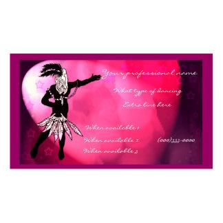 dancer business card templates