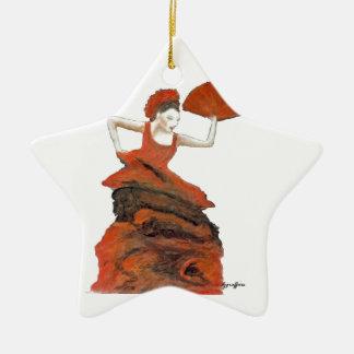 Dancer Ceramic Star Decoration