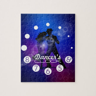 Dancer clock with numbers for a Dancer's. Jigsaw Puzzle