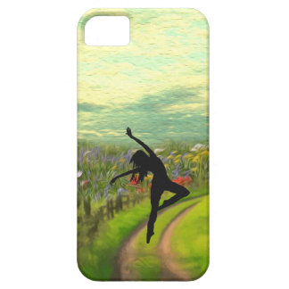 Dancer Dancing Near Field of Flowers Case For The iPhone 5