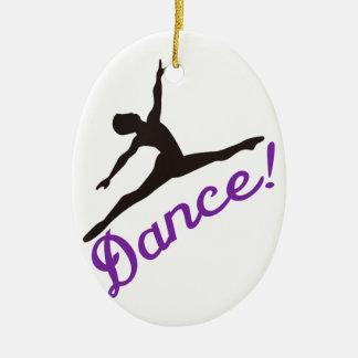Dancer Ceramic Oval Decoration