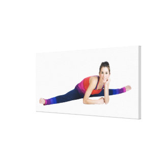Dancer doing splits canvas print