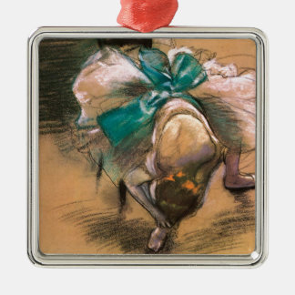 DANCER, Edgar Degas 1866 Silver-Colored Square Decoration