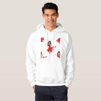 Dancer emoji mens hooded hoodie sweatshirt hoody