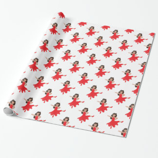 dancer emoji wrapping paper